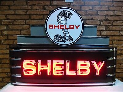 Shelby Neon Sign! Metal Vintage New Style Gas & Oil Man Cave