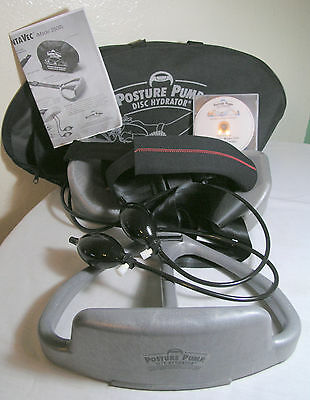 Posture Pump Pentavec Model 2500 Disc Hydrator Whole Back With Case And DVD