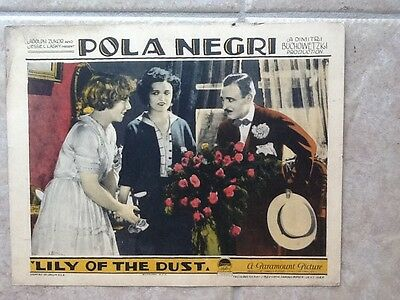 Pola Negri in Lily of The Dust ParamountPicture 1924 Color Scene