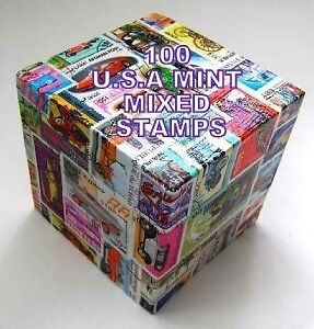 100 Usa  Mixed All Different Commemorative Mint Stamps