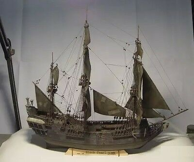 Scale 1/96 Laser-cut wooden sailboat model kit: the classic pirate ship model