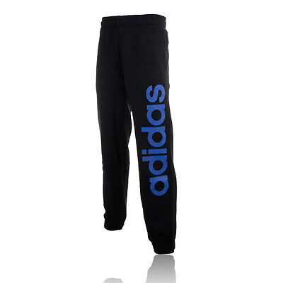 Adidas Performance Linear Mens Blue Black Running Gym Long Pants Bottoms