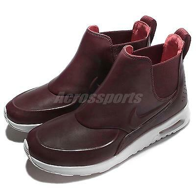 Wmns Nike Air Max Thea Mid Night Maroon White Women Shoes Sneakers 859550-600
