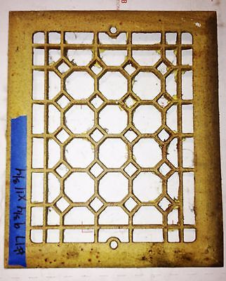 Antique Salvaged Vintage Floor Wall Grate Heat Return Register Vent #17