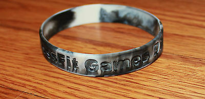 Crossfit Games Bracelet Wristlet Silicone Rubber Black Marled - Dirty South NEW
