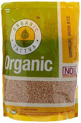 Organic Tattva Sona Masoori Grain Brown Rice, 1kg Certified By USDA Organic