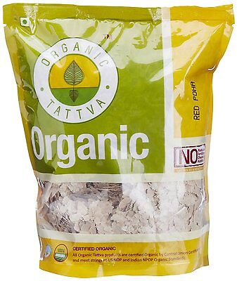 Organic Tattva Beaten Rice/ Flattened Rice Flakes, 500g USDA Certified