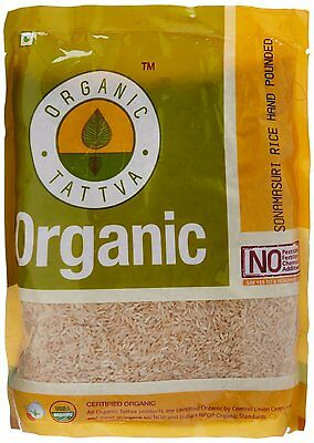 Organic Tattva Sona Masuri Rice Pounded Medium-Grain Rice 1kg Certified By USDA