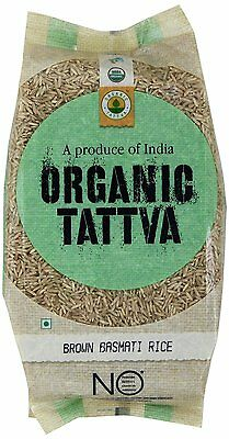 Organic Tattva Brown Basmati Rice, 1kg USDA Certified