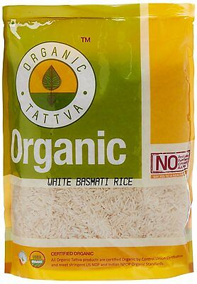 Organic Tattva White Basmati Rice Easy Cook, 1kg Certified By USDA Organic