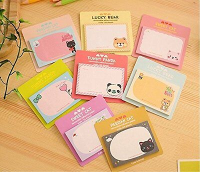 Cute Cat Sticker Post It Bookmark Point Marker Memo Flag Sticky Notes