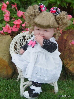 "New 18 "" Berenguer Baby Doll ~ makeover ~ in Black and White Dots ~ Extras"