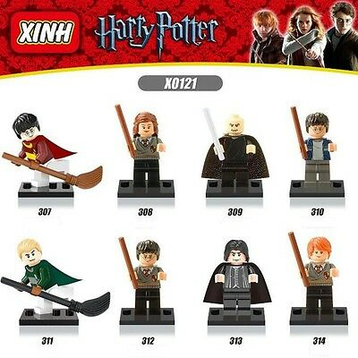 Harry Potter 8 Styles Action Minifigures Toys Building Blocks Kids Gift 1.7in
