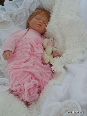 "New ~ Berenguer Sleeping Baby Doll ~ with makeover ~ 18 "" Dressed in Pink"