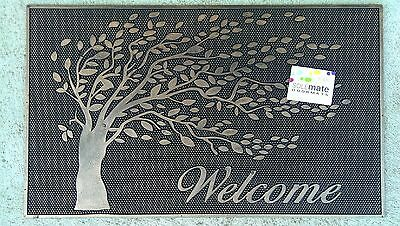 Tree - Natural Rubber With Copper Finish Door Mat