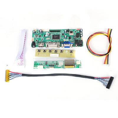 HDMI+DVI+VGA+Audio LCD Controller Board For LG LP171WU1-TLA1 LP171WU3-TLB3