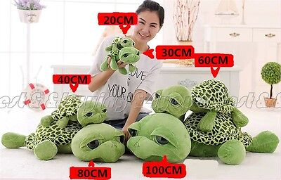 30CM 40CM 60CM 80CM Stuffed Animal Lovely Tortoise Turtle Plush Doll Toy TP