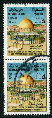 Iraq #1472a 1994 provisional 5d on 5f used pair