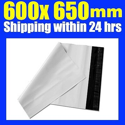 100 x New 600 x 650mm Poly Courier Bag Mailer Mailing Satchels