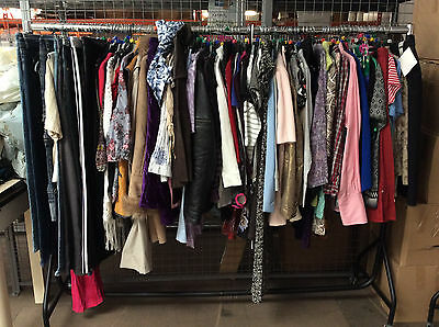 Ladies Clothing Joblot 100 Items Tops Skirts Trousers Dresses