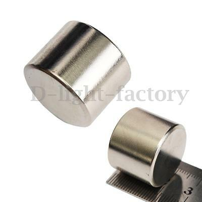 New N52 Strong Disc Round Cylinder Fridge Magnet Rare Earth Neodymium 25x20mm