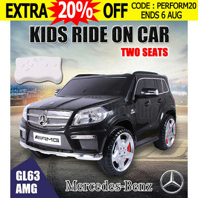 Licensed Mercedes Benz AMG GL63 Electric Kids Ride on Car Children 2 Seats Black