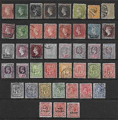 St Vincent  Selection Of Used 1861/1918   Good/fine