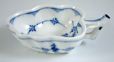 Antique Royal Copenhagen Blue Fluted Plain Small Leaf Pickle Dish C.1900