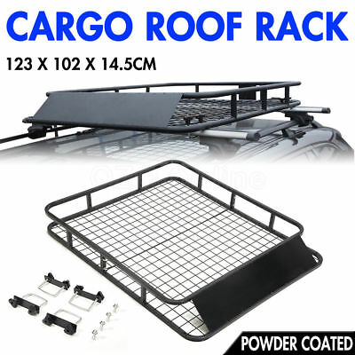Universal Cargo Roof Rack Basket Powder Coated Top Luggage Carrier 4X4 4WD Car