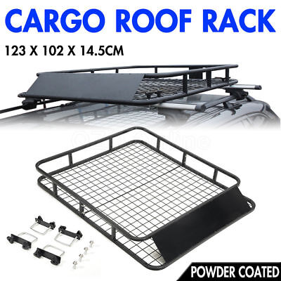 VEH-TOO Universal Cargo Roof Rack Basket Powder Coated Top Luggage 4X4 4WD Car