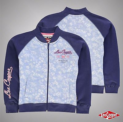 Junior Girls Lee Cooper Stylish Textured AOP Baseball Zip Jacket Size Age 7-13