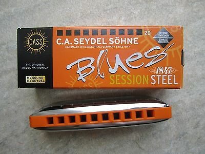Seydel Session Steel Blues Harmonica in the key of G *NEW*