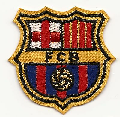 FC Barcelona Football Embroidered Patch Iron-on Good Luck Magic Charm Football