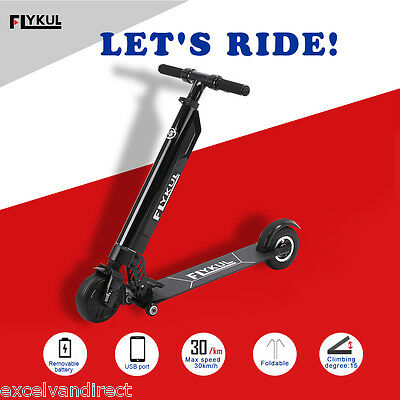 Foldable Electric E-Scooter Ride on Rechargeable 36V Battery 250W Max 30km/h New
