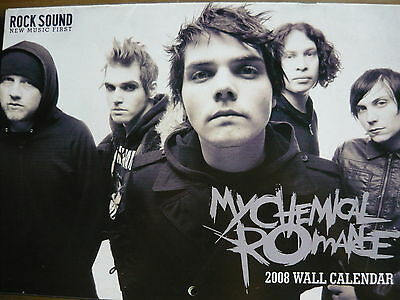 My Chemical Romance Rock Sound 2008 Wall Calendar