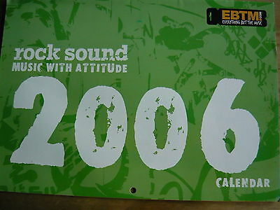 Rock Sound 2006 Calendar - Him/lacuna Coil/marilyn Manson/my Chemical Romance
