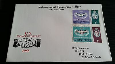 Falkland Islands 1965 Sg 221-222 I.c.y.   First Day Cover