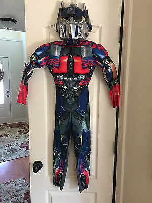 Transformers Optimus Prime Halloween Costume with plastic mask Boys Size 7/8