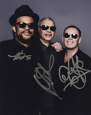 UB40 - British Reggae Band - Authentic Autographed 8x10 Photograph - Signed by 3