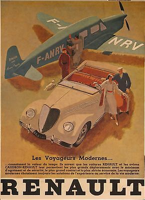 1938 Renault Automobile Advertising Showroom Small Poster French Reprint md3394