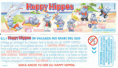 Cartina Happy Hippos Kinder Ferrero 2001