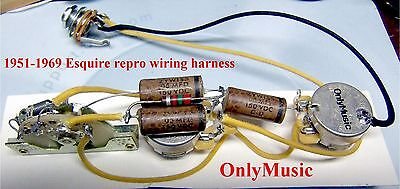 compatible with Fender Esquire 1950 1952 reproduction wiring harness