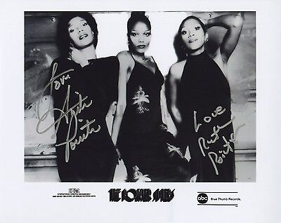 The Pointer Sisters - Classic R&B Group - Autographed 8x10 Photograph - by 2