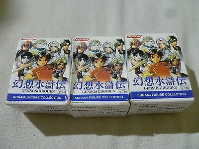 New In Box Genso Suikoden Konami Figure Collection Trading Lot Of 3 Yamato Rare