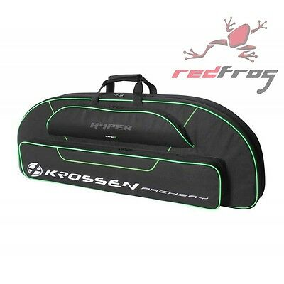 New Krossen Archery Hyper Compound Bow Bag Case Carry Hold All Black Rip-Stop
