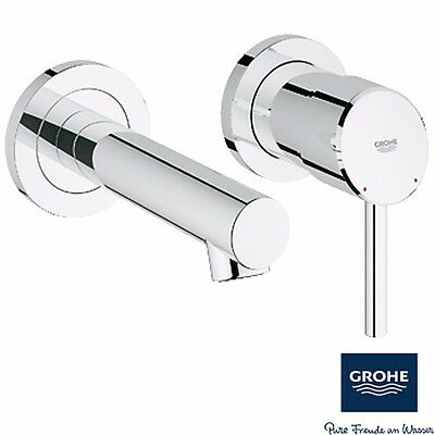 Grohe Concetto Chrome Two Hole Wall Mounted Basin Mixer Tap 19575001