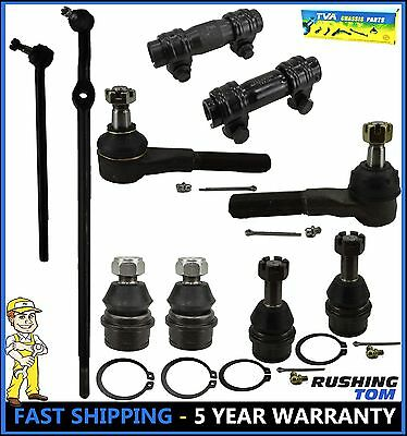 10 Pc Kit Front Left & Right Drag Link Tie Rod Ball Joint Bronco F150 F-150 4WD