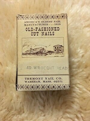 TREMONT NAIL CO. Steel Cut Old Fashioned Cut Nails 4D Wrought Head Black 1.5""