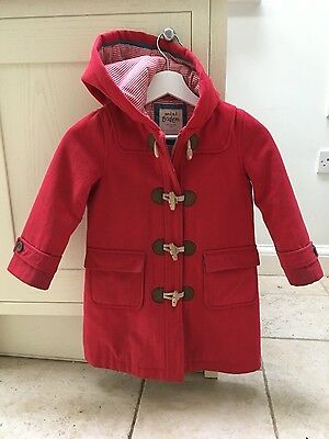 Mini Boden girls red duffle coat age 5-6