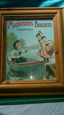 Mackenzies Biscuits Framed Advertising Poster